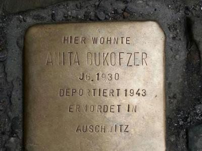 Stolpersteine in front of the Bukofzer home