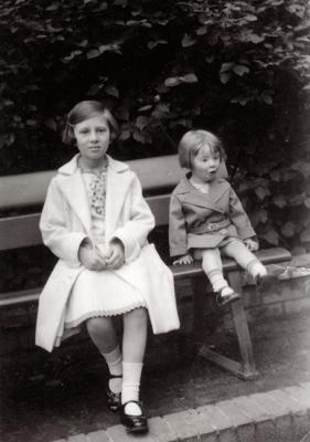 Lore and Irene Geminder, Halle, Germany, circa 1934