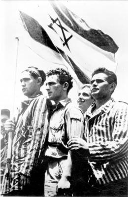 Buchenwald survivors from the illegal immigrant ship Meteora, July 1945