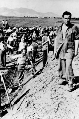 September 1941, Jews in a Hungarian forced labor battalion