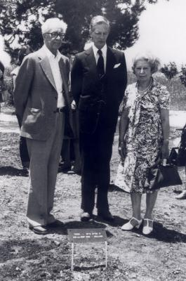 Miep Gies at the tree planting ceremony. Yad Vashem, May 6, 1977