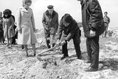 Planting of tree in honor of Father Amedee Folliet France
