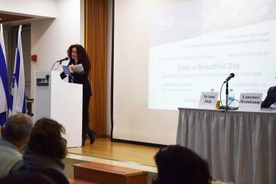 Dr. Na'ama Shik, Director of Yad Vashem's International School for Holocaust Studies' e-Learning Department, moderated the symposium