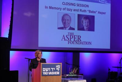 Shai Abramson, Consultant at The Asper Foundation-Israel, gave the formal address at the Closing Session in Memory of Izzy and Babs Asper
