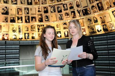 Bat Mitzvah twinning ceremony at Yad Vashem