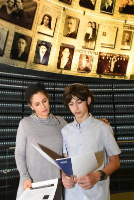 Bar Mitzvah twinning ceremony at Yad Vashem