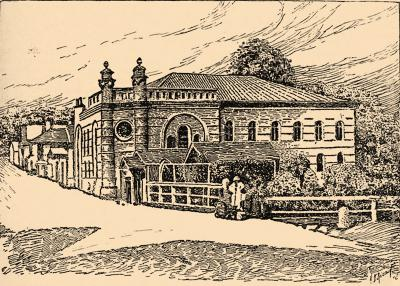 Illustration of the Mogilev synagogue from Brockhaus and Efron Jewish Encyclopedia (1906—1913)