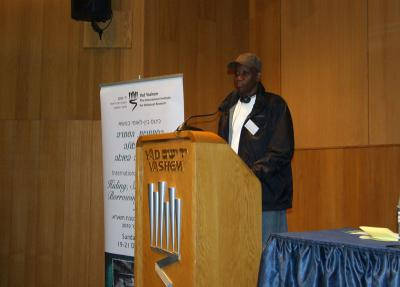 Ihediwa Nkemjika Chimee, PhD candidate – University of Nigeria, speaking at the International Conference on Hiding Sheltering and Borrowing Identities, 19-21 December 2010
