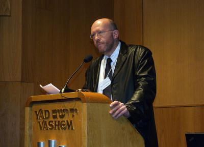 "Prof. Jan Grabowski, University of Toronto, speaking on ""Failed Attempts at Rescue"" at the International Conference on 19 December 2010"