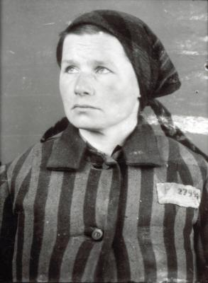 Maria Kotarba as a prisoner in Auschwitz