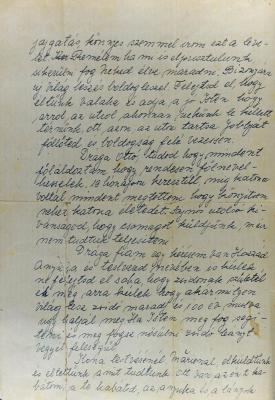 Page 2 of the farewell letter that the Herstik family wrote on 17 April 1944 to their son and brother Otto, who had been conscripted to forced labor