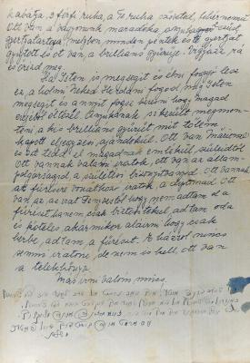 Page 3 of the farewell letter that the Herstik family wrote on 17 April 1944 to their son and brother Otto, who had been conscripted to forced labor