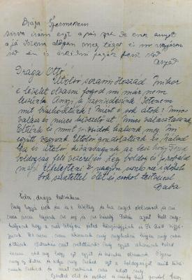 Page 4 of the farewell letter that the Herstik family wrote on 17 April 1944 to their son and brother Otto, who had been conscripted to forced labor