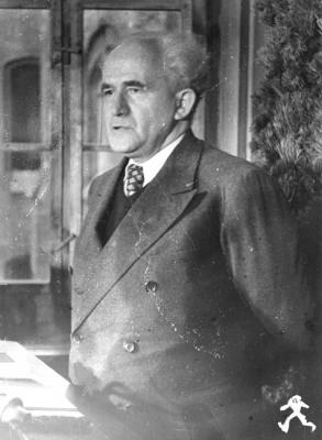 David Ben-Gurion during a Visit with Members of the Jewish Agency, Munich, Germany