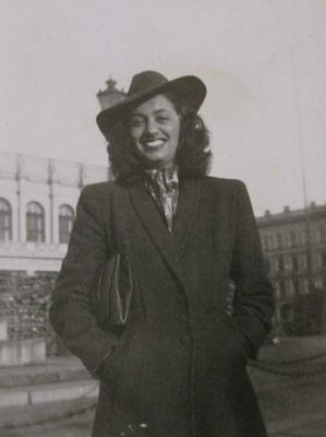Hilde Sherman as a young woman after the Holocaust