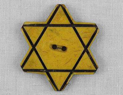 A Yellow Star of David Button, Which the Bulgarian Jews were Forced to Wear in 1941 with the Onset of the German Occupation