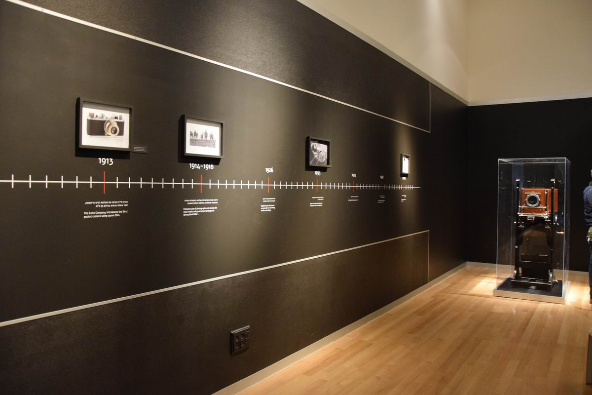 The exhibition opens with a timeline of the development of photography during the ages