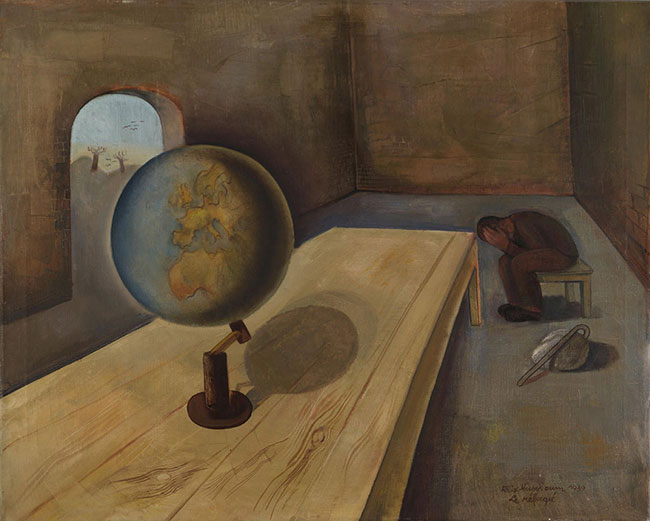 "Felix Nussbaum. ""The Refugee, Brussels, 1939"""