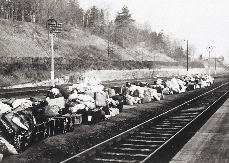 the Jews at the Kitzingen train station prior to the Jews deportation    Jewish Deportation During The Holocaust