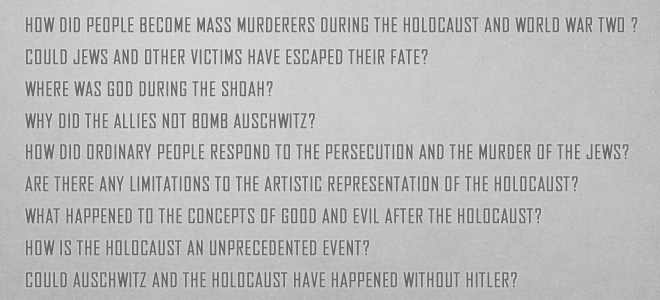 how is the holocaust represented in