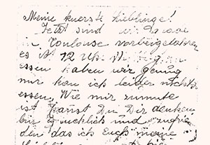 Letter written by Perla Krieser to her daughters on 4 September 1942, from the deportation train in Toulouse.