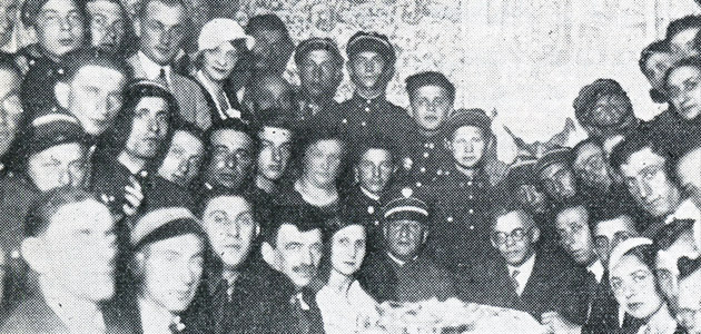 A meeting between members of the Revisionist Movement in Chełm, and Ze'ev Jabotinsky, before the war