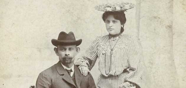 Esther Ciecura Gutterman in Piotrków Trybunalski with her first husband