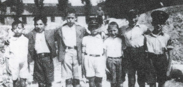 Seven children from the Piotrków Trybunalski ghetto
