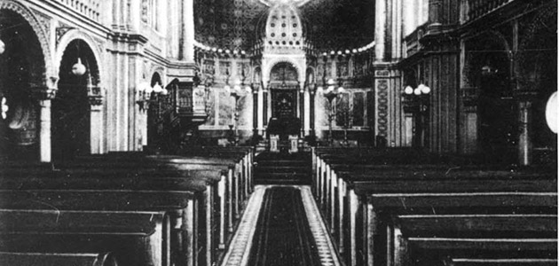 The interior of the Great Synagogue on Michelsberg Street, Wiesbaden