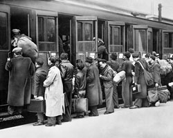 Deportation of Jews holding foreign citizenship from the Austerlitz station in Paris, 1941