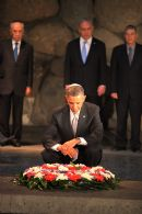 US Pres. Obama in Yad Vashem's Hall of Names