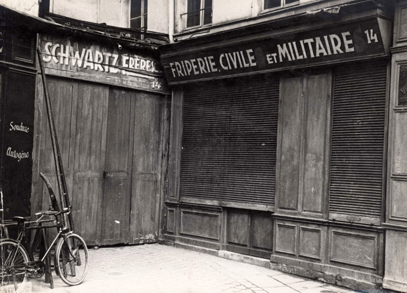 Paris, France, stores in the Jewish quarter, May 1941