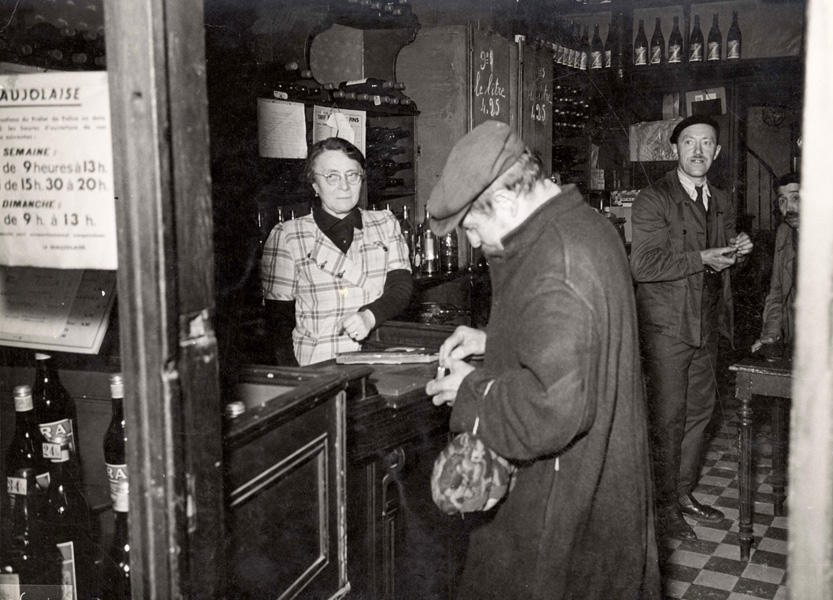 Paris, France, Jews in a liqueur store in the Jewish quarter, May 1941