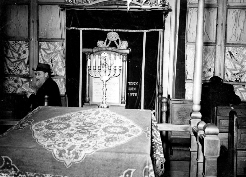 Paris, France, a Jew in a synagogue in the Jewish quarter, May 1941