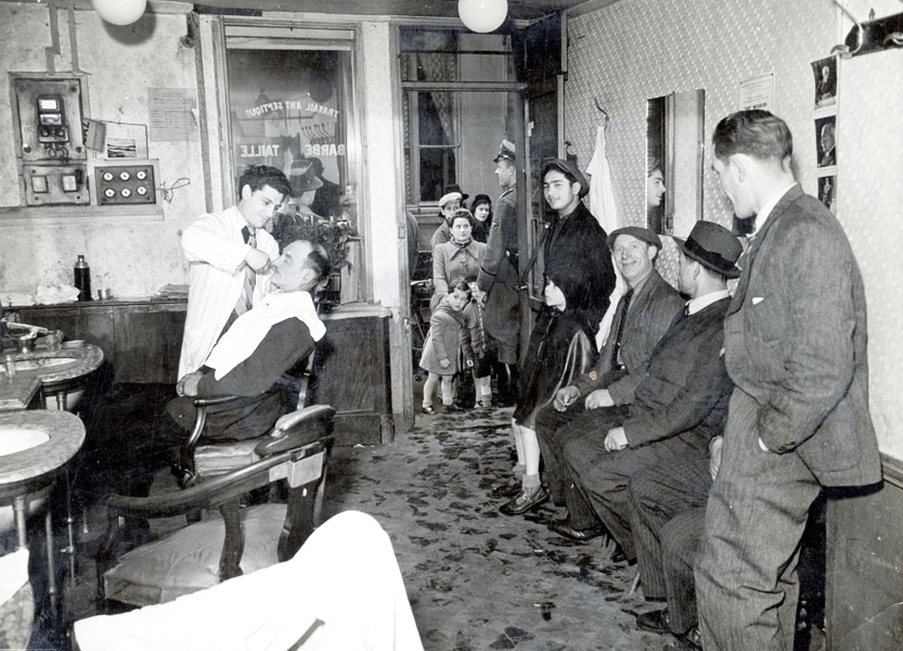 Paris, France, Jews at the hairdresser in the Jewish quarter, May 1941