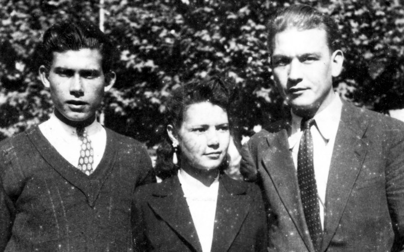 Left to right: Maurice Sebbane, Odette Sebbane and André Houvenagel, Marseille, 1940